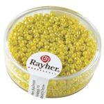 Kásagyöngy, 2 mm átm.,opak lüszteres, sárga, 17 g