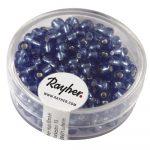 Ezüstközepű kásagyöngy, átm. 4 mm, vil.kék, 17 g