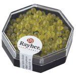 Miyuki gyöngy, csepp, átl. jeges, vil.sárga, 6g, átm. 3,4 mm, szivárvány