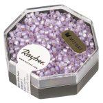 Delica gyöngy, 2,2 mm átm.,vil.lila, 6g, gyöngyházfényű