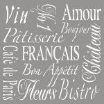 Festősablon French Living, 30,5x30,5cm