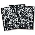Maszkolómatrica írott betűk, 3 cm, öntapadó, 3 lap