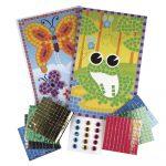 Mozaikmatrica: béka és pillangó, 12,5x20 cm, 2 lapos