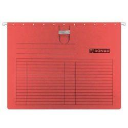 DONAU Függőmappa, gyorsfűzős, karton, A4, DONAU, piros