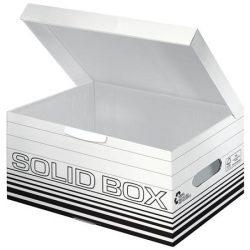 """LEITZ Archiváló doboz, S méret, LEITZ """"Solid"""", fehér"""