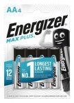 """ENERGIZER Elem, AA ceruza, 4 db, ENERGIZER """"Max Plus"""""""