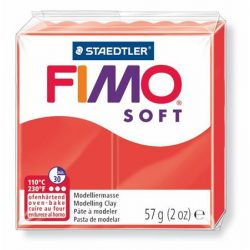 "FIMO Gyurma, 56 g, égethető, FIMO ""Soft"", indián piros"