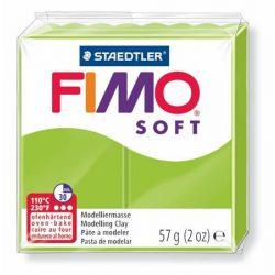 "FIMO Gyurma, 56 g, égethető, FIMO ""Soft"", alma zöld"