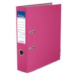 """VICTORIA Iratrendező, 75 mm, A4, PP/karton, élvédő sínnel, VICTORIA, """"Basic"""", rózsaszín"""