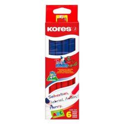 "KORES Postairón, háromszögletű, KORES ""Twin Jumbo"", piros-kék"