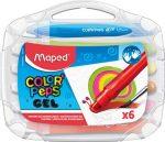 """MAPED Zsírkréta, kitekerhető, MAPED """"Color'Peps GEL"""", 6 különböző szín"""
