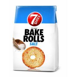 """7DAYS Pirított kenyérkarika, 80 g, 7DAYS """"Bake Rolls"""", sós"""