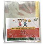 Pd School Tankönyvborító pd 26x45 cm öntapadós PP 0,07 mm 10 ív/csom víztiszta (közepes)
