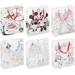 Noname Dísztasak Disney 32x12x39cm kiszínezhető 6féle minta