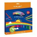 Y-Plus Színes ceruza  Y-Plus+ Rainbow 24 db-os klt. hegyezővel