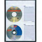 Durable Bemutatótábla CD tároló Durable Sherpa 4 db-os PP fekete