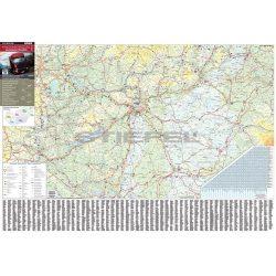 Stiefel Térkép Stiefel fali Magyarország súlykorlátozása fémléces fóliázott