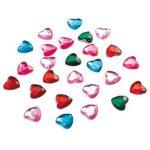 Craft with Fun Kreatív CF dekor kristály szív vegyes színű 75 db/csomag