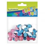 Craft with Fun Kreatív CF dekor kristály csokor-nyakkendő forma 30 db/csomag