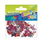Craft with Fun Kreatív CF dekor kristály pillangók 80 db/csomag