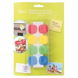Noname Hűtőmágnes 2,5 x 2,5 cm műanyag klip 8 db/csomag