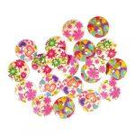 Junior Kreatív Junior gomb, virágos, 15 mm, 20 db