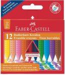 """FABER-CASTELL Zsírkréta, háromszögletű, FABER-CASTELL """"Grip"""", 12 különböző szín"""