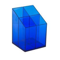 ICO Írószertartó, ICO, áttetsző kék