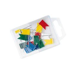 WEDO Térképtű, zászló, 20 db, WEDO, vegyes színű