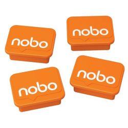 NOBO Mágnesek fehértáblához 4 db, NOBO narancs