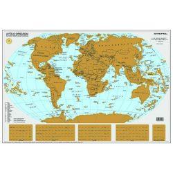STIEFEL Kaparós Föld országai térkép, 84x57 cm, STIEFEL, ezüst bevonat